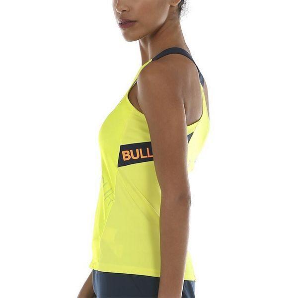Camiseta Bullpadel WPT Serenis Amarillo Azufre Fluor chica