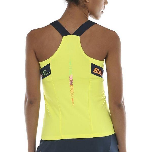 Camiseta Bullpadel WPT Serenis Amarillo Azufre Fluor padel