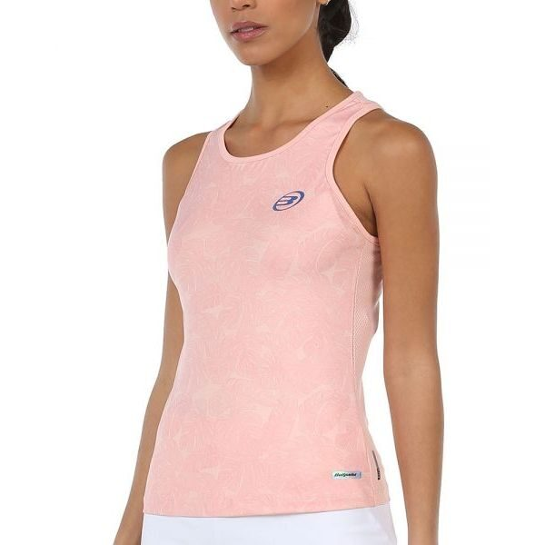camiseta lilian rosa pastel bullpadel