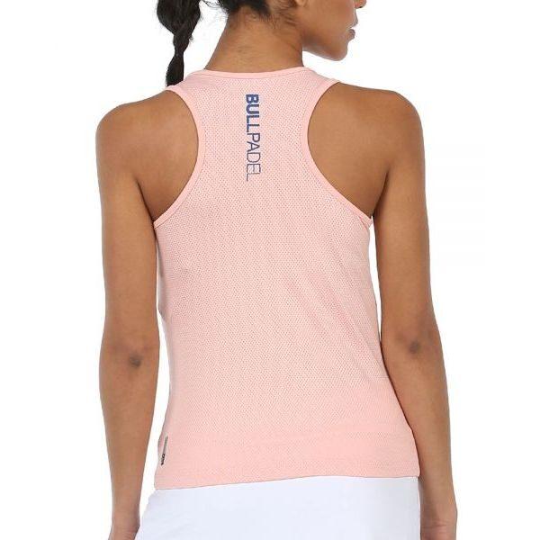 camiseta lilian rosa pastel bullpadel padel
