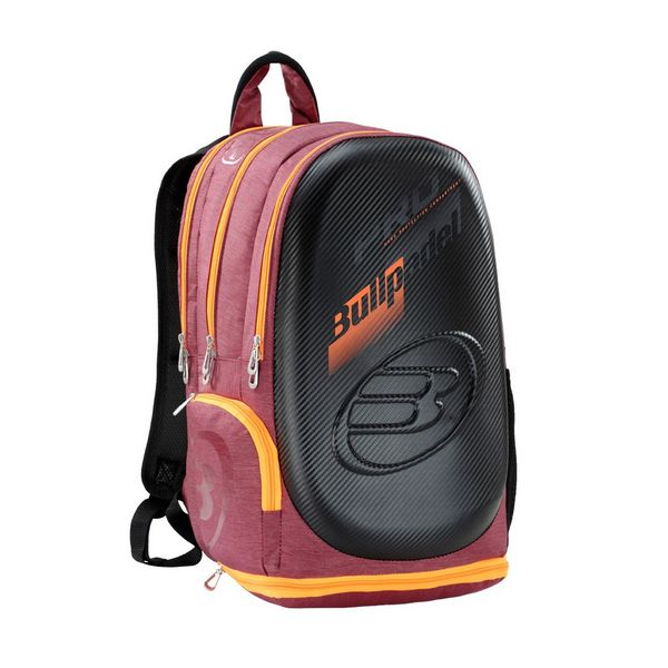 mochila bullpadel rojo burdeos tech backpack